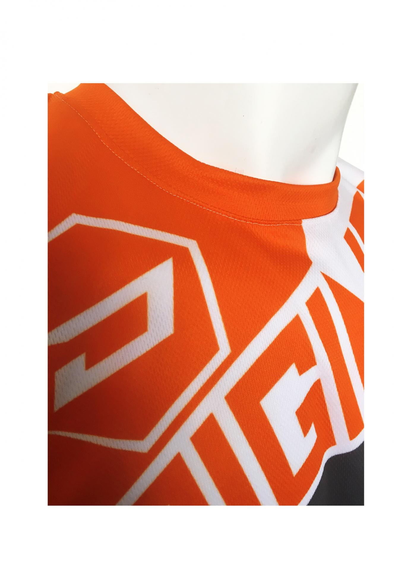 Maillot fraka orange col 1
