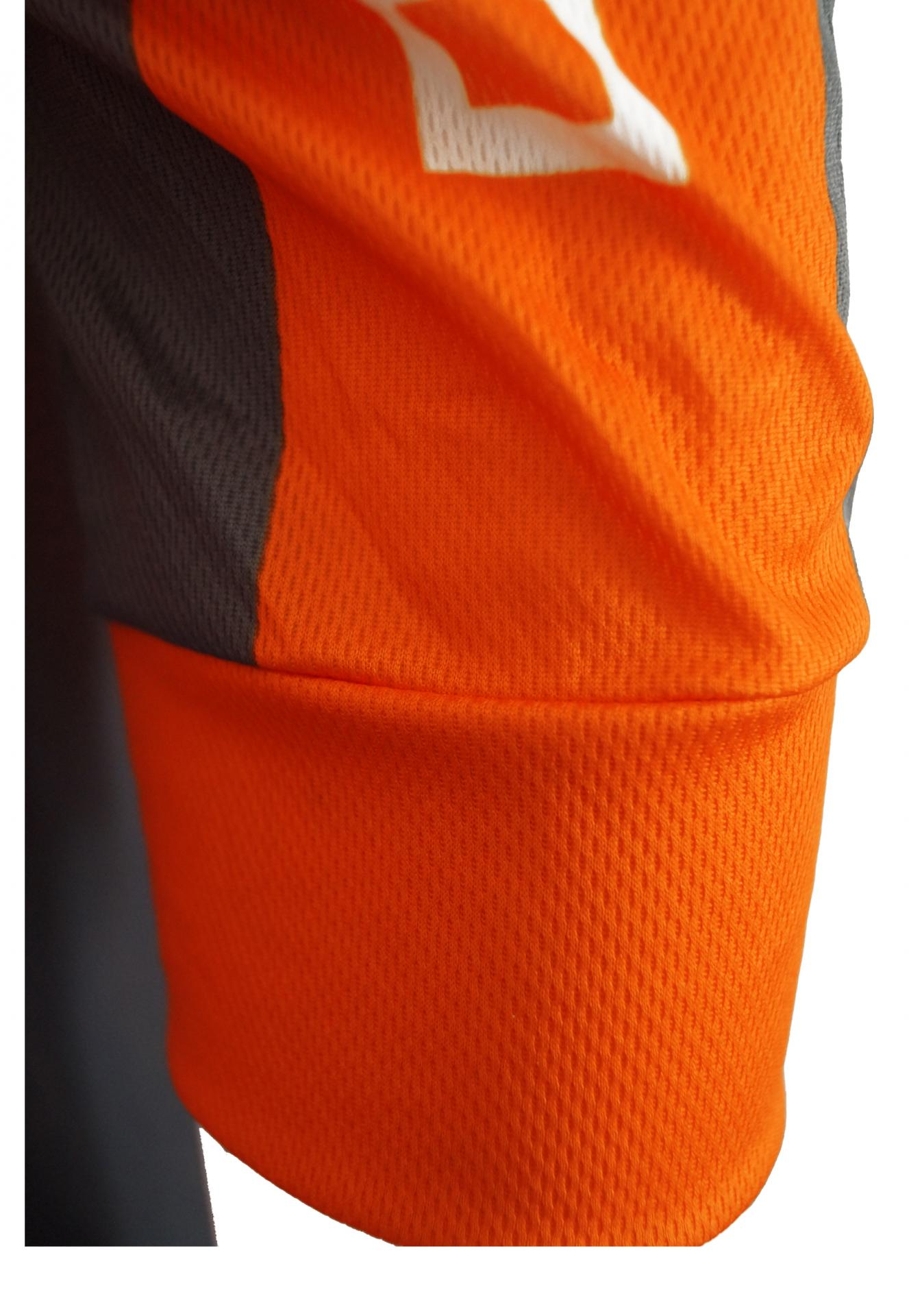 Maillot orange manche