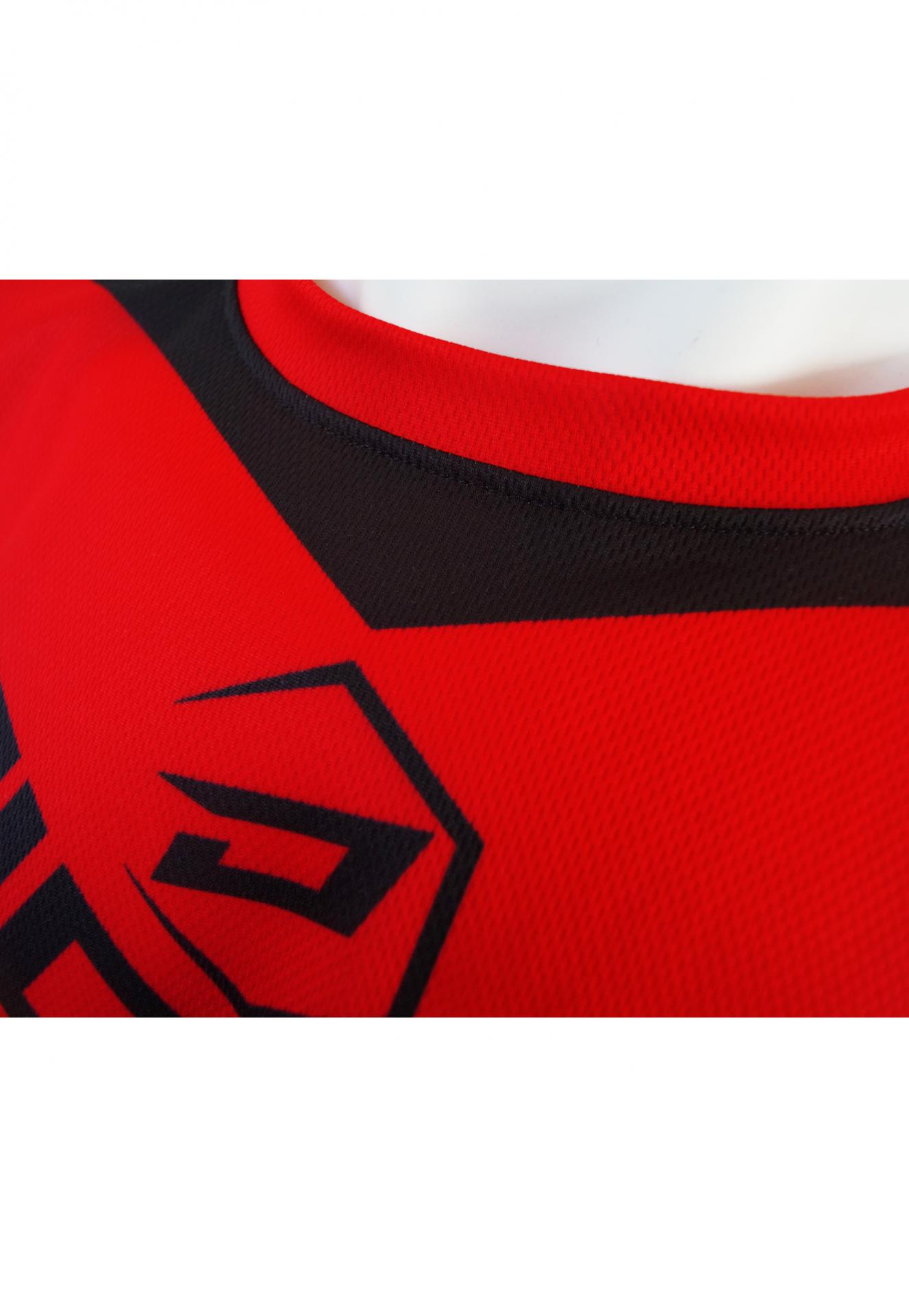 Maillot rouge col