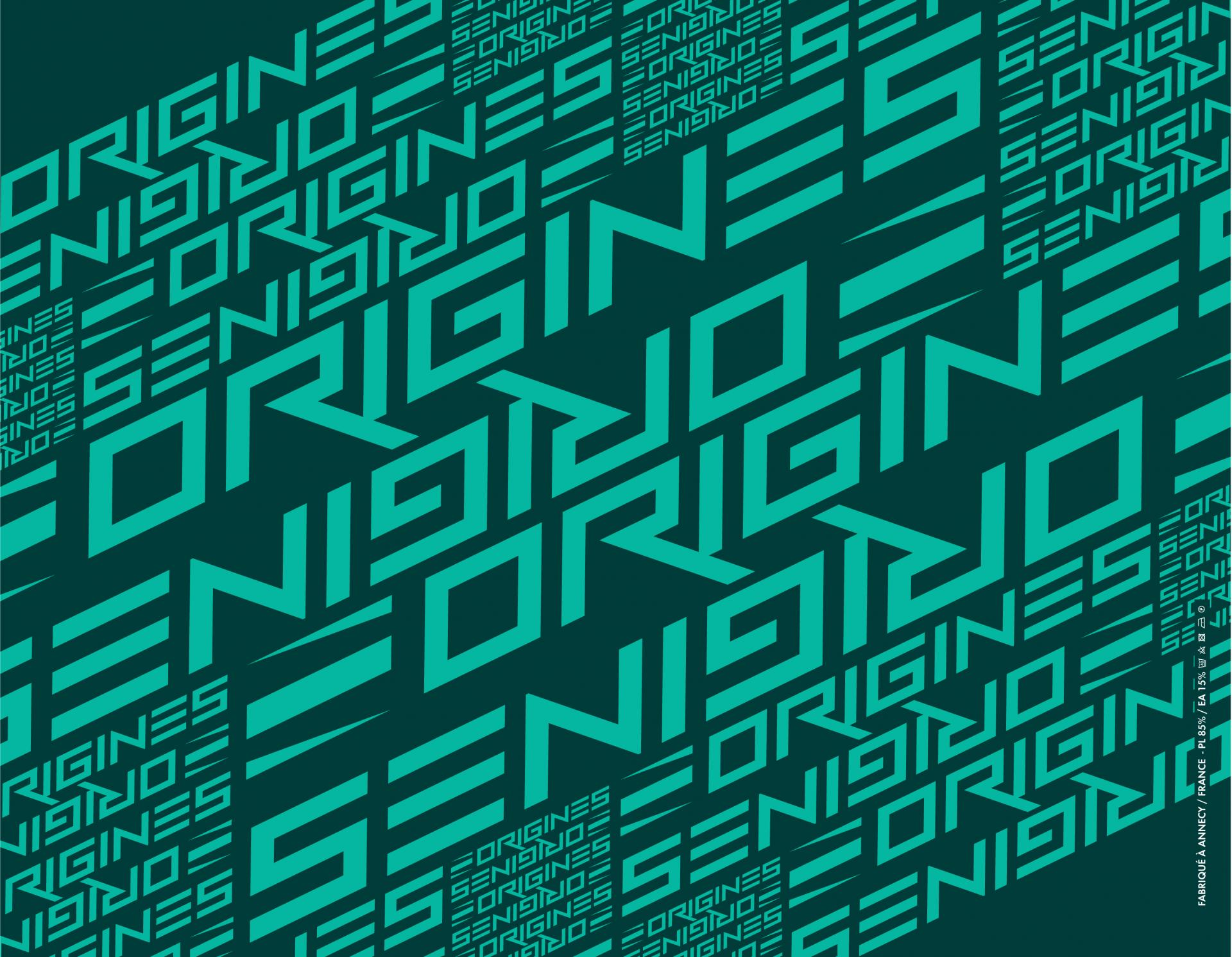 Neckwarmer origines 20 logos vert