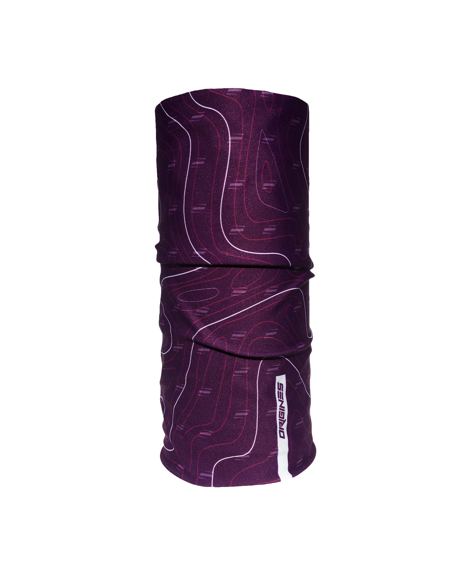 Neckwarmer origines clothing purple topo